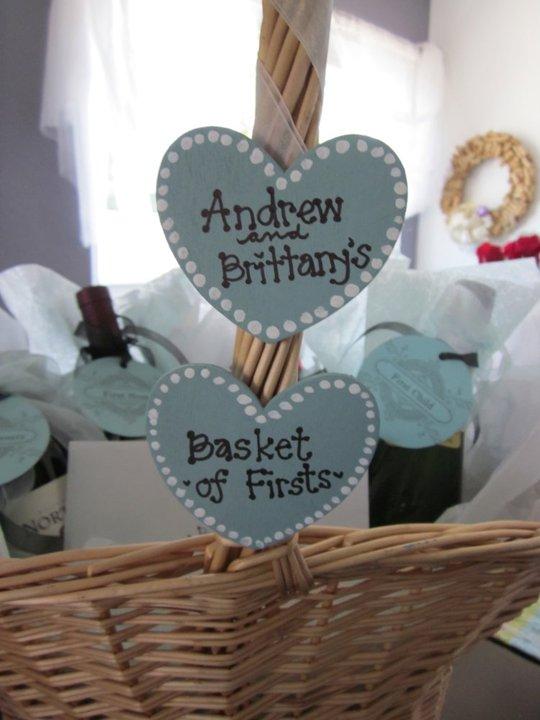 Wedding Gift Basket Uk : daniellesque: Bridal Shower Gift: Basket of Firsts