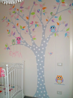 La bottega dell 39 artista decorazioni su pareti - Albero su parete ...