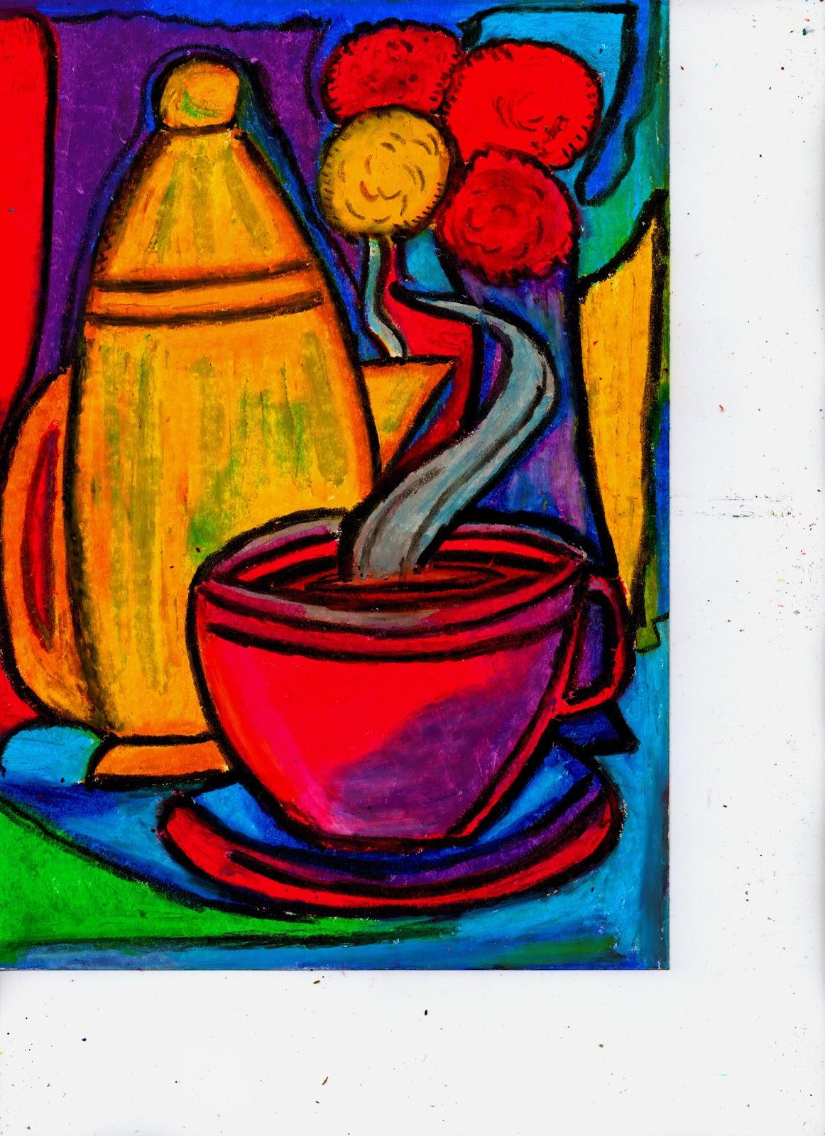 Oil Pastel/Mixed Media...Bold, Abstract, Contemporary Art ...