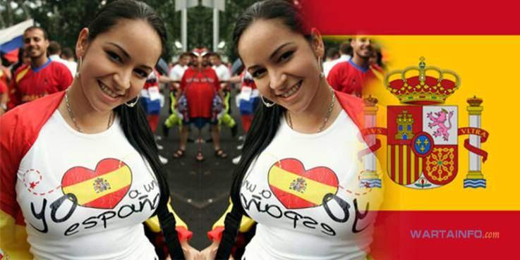 Foto Hot Fans Payudara Suporter Wanita Seksi Spanyol di Piala Dunia