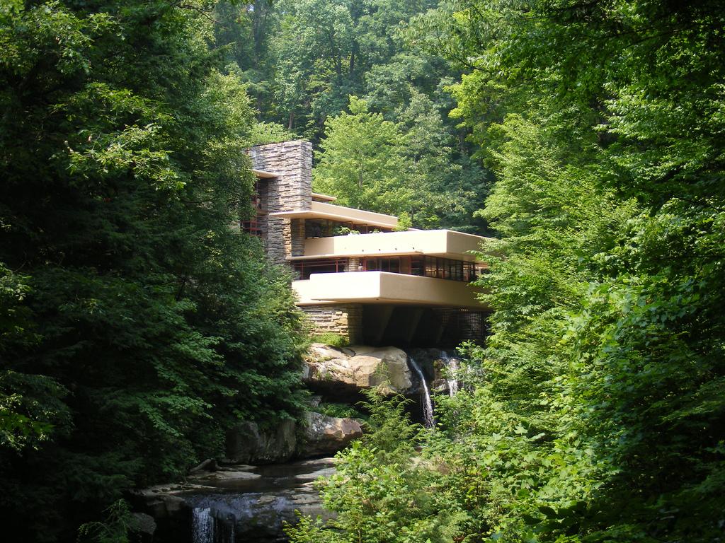 Arquitetura m sica congelada a casa da cascata for Casa sulla cascata frank lloyd wright