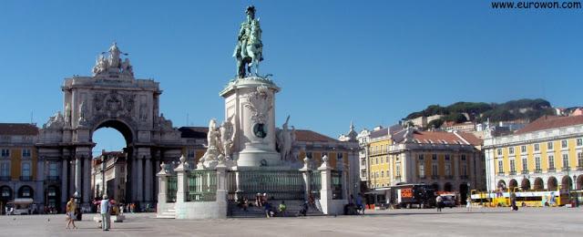 Plaza del Comercio, en Lisboa (Portugal)