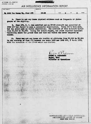 Crescent Shaped UFO Over Savannah River Project (2 of 2) 3-5-1953