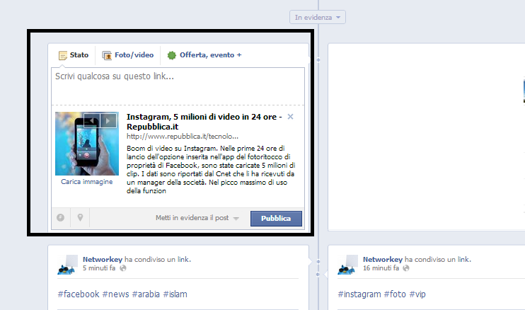 Modifica Link Facebook