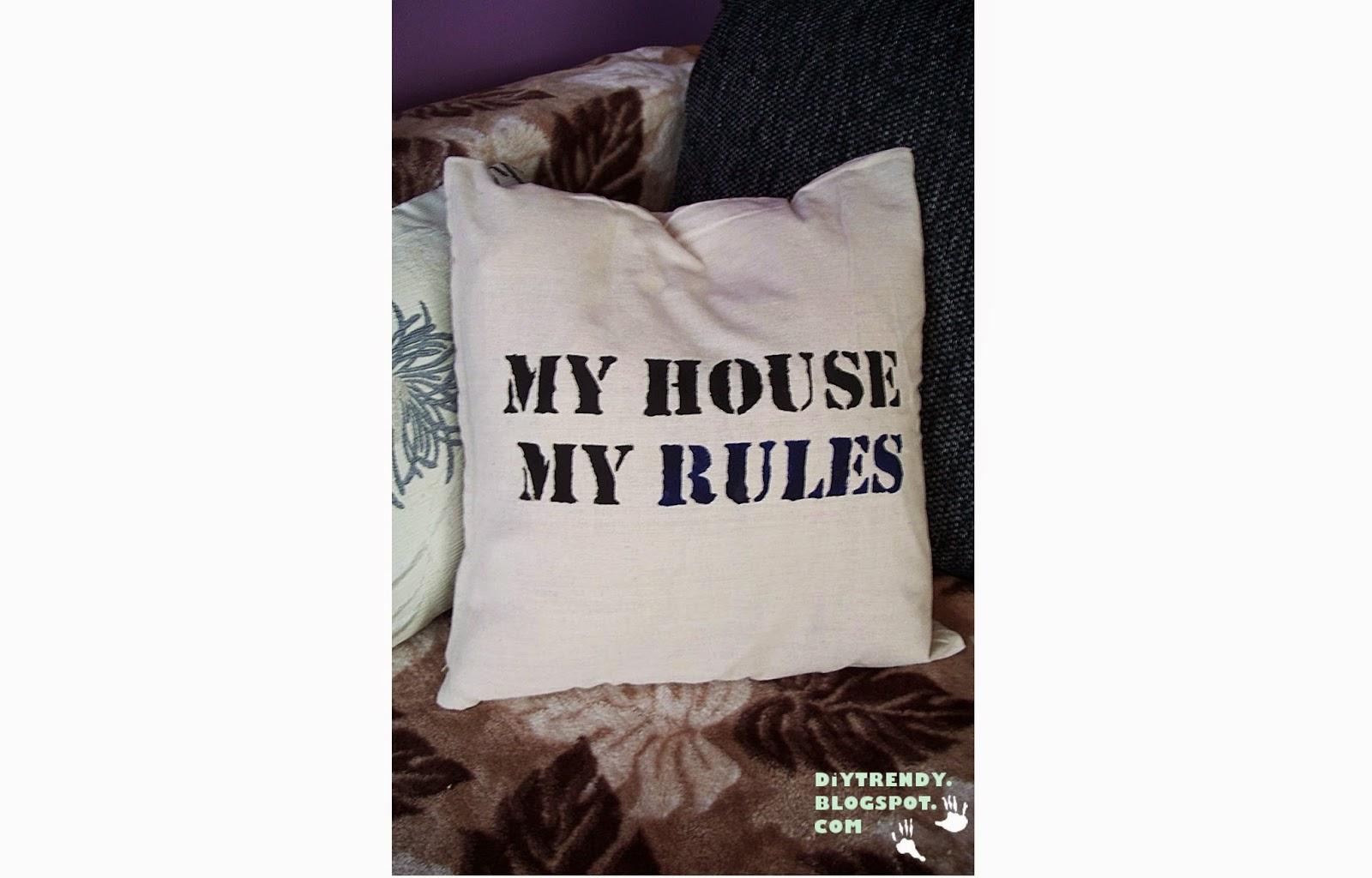 Jak ozdobić poszewkę na poduszkę? + kilka szablonów do pobrania :)