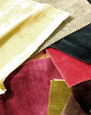retales de telas de terciopelo