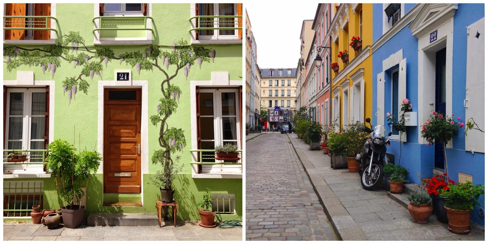 I colori di Rue Cremieux a Parigi - foto di Elisa Chisana Hoshi