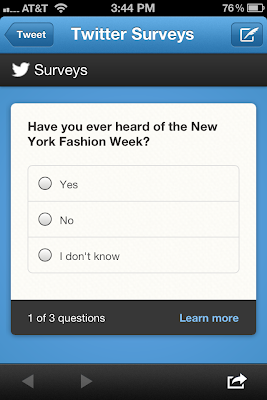 Fashion Week Twitter Poll