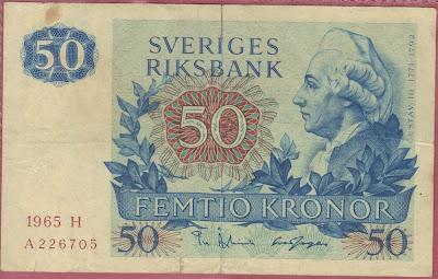 Svezia 50 Kronor 1965 P# 53