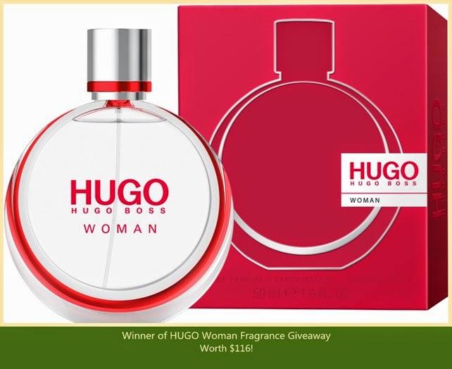 hugo woman eau de parfum giveaway winner