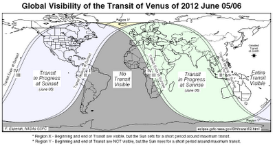 transit of venus visible around the world