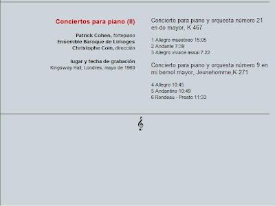 Mozart - Col. El País 250 Aniversario-(2006)-17-Conciertos para piano-2-contenido