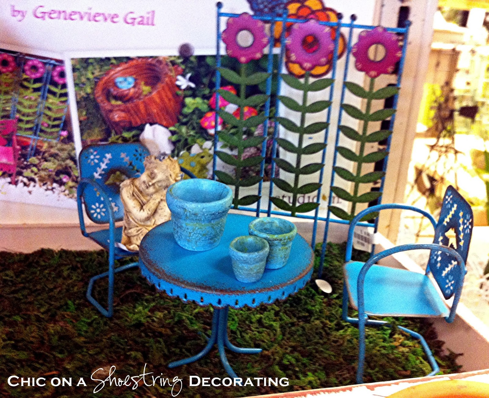 chic on a shoestring decorating: fairy gardens that's right, i