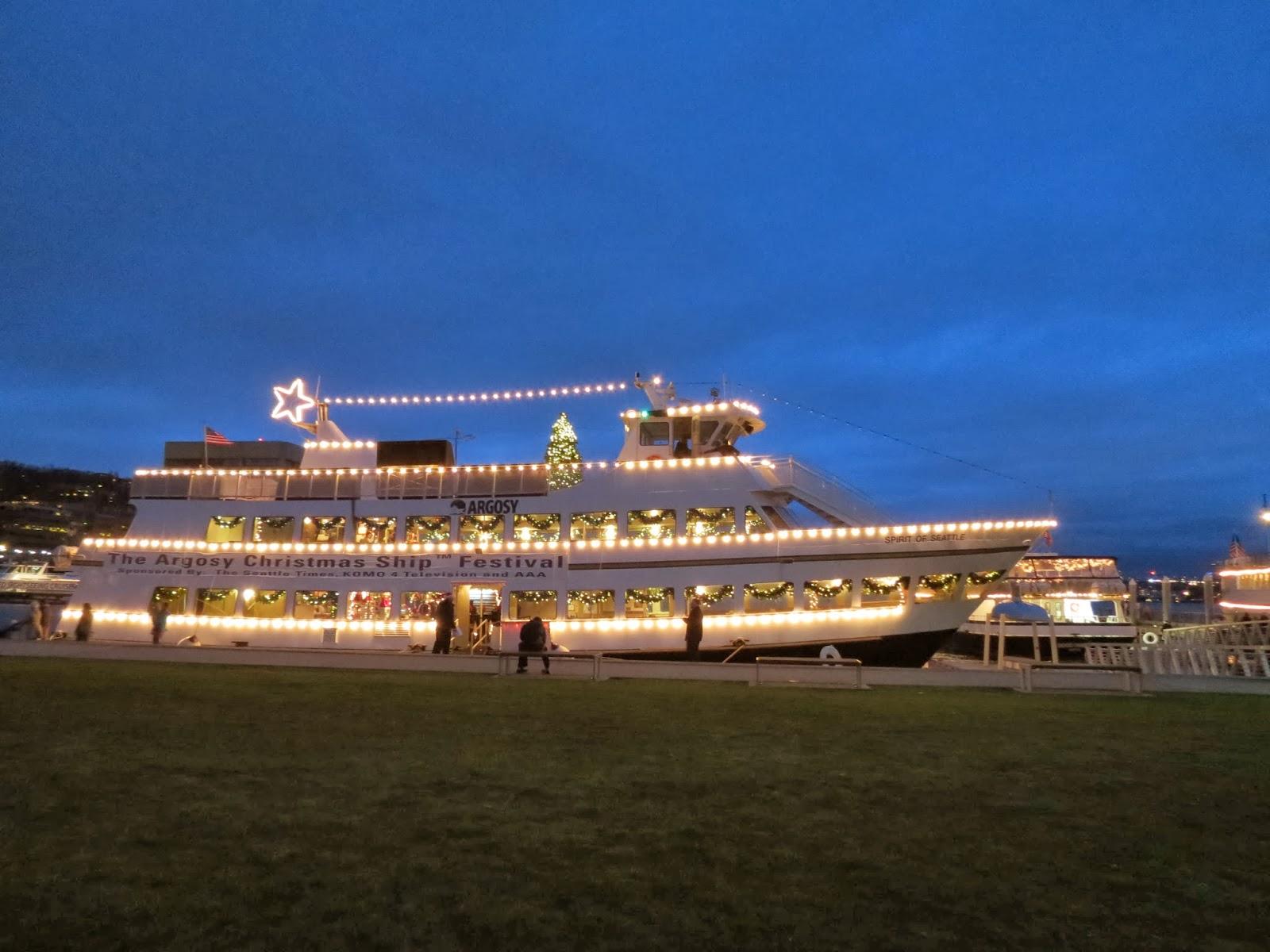 the christmas ship ready to lead the boat parade of lights across lake union - Argosy Christmas Ships 2014