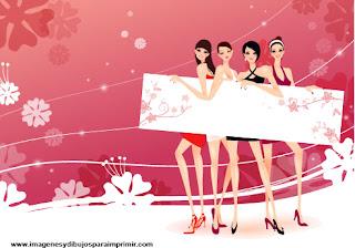 Mujeres y belleza para imprimir