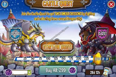 imagen de las tareas del castillo magico de dragon city ios