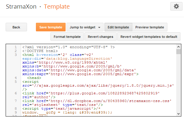 How to add css to your blogger blog stramaxon for Template for blogger html code