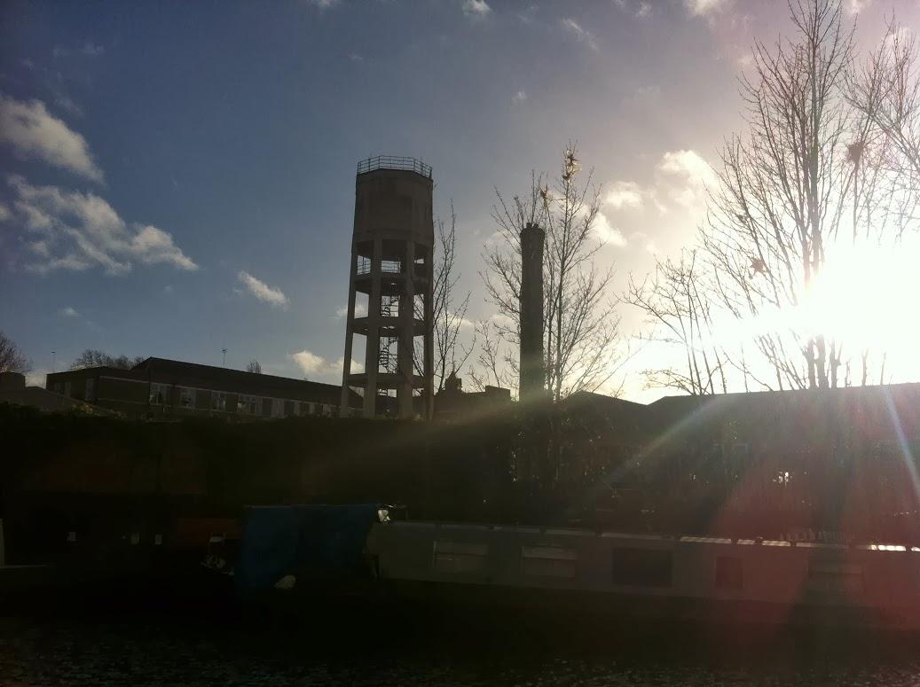 Old water tower, Kings Cross, London