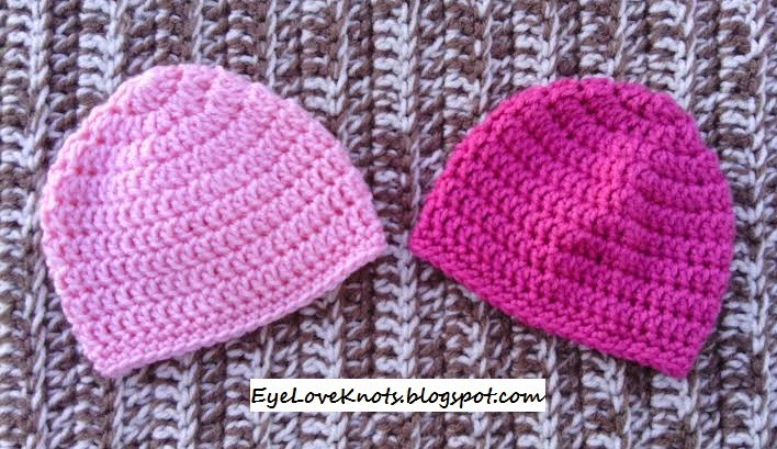 Free Crochet Pattern Basic Beanie : EyeLoveKnots: Crochet Newborn Basic Baby Beanie - With ...