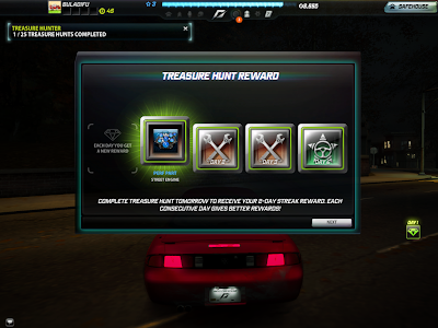 Need For Speed World - Treasure Hunt Reward