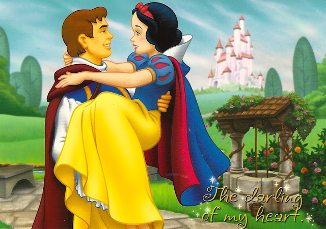 my favorite disney postcards snow white and prince charming