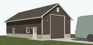 Rv motor home garage plans garage plans blog behm for Car lift garage plans