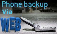 Mobile backup process through web