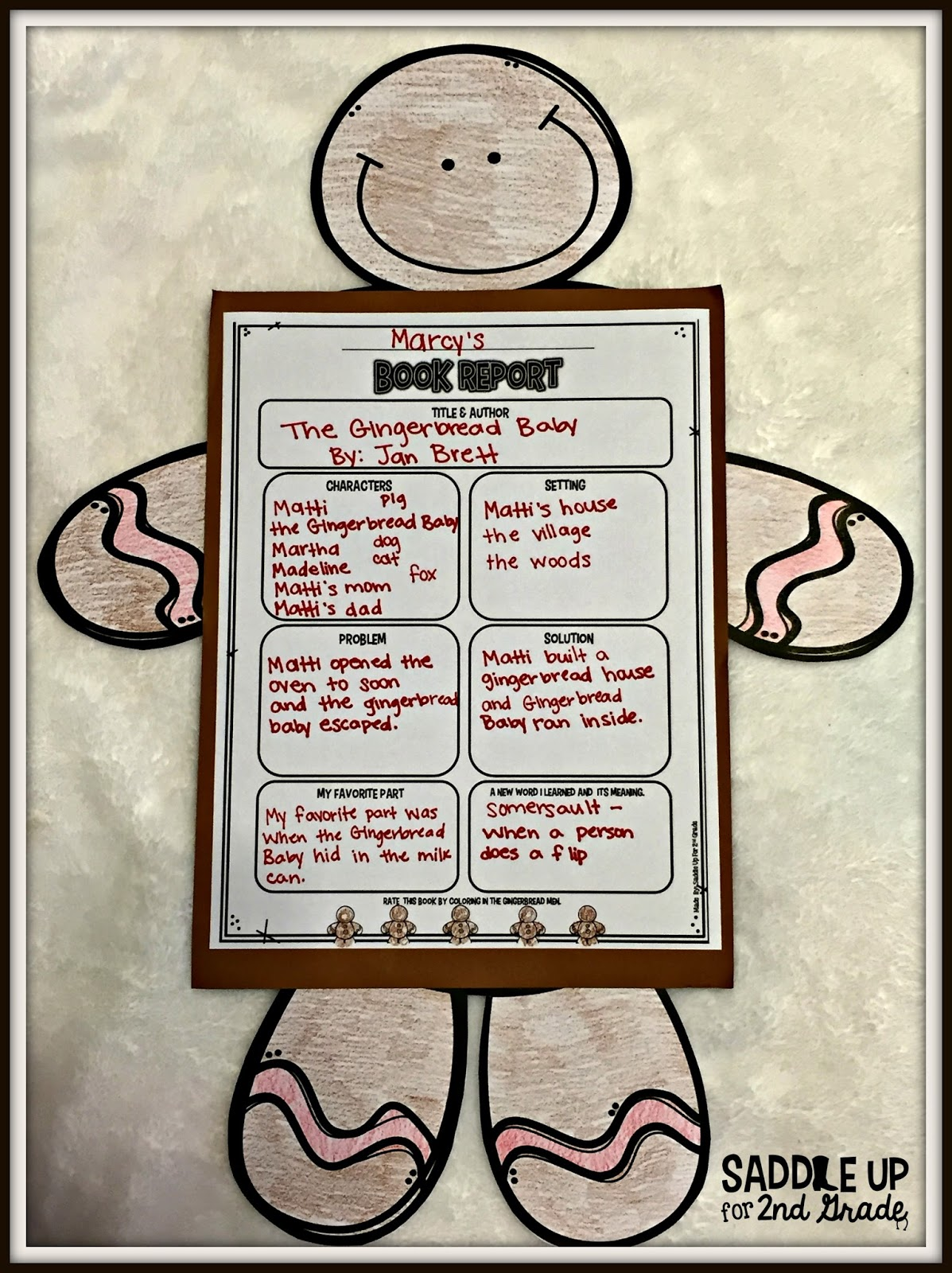 Gingerbread Baby Freebie by Saddle Up For 2nd Grade
