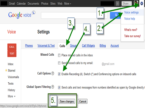 How To Record Calls On Google Voice
