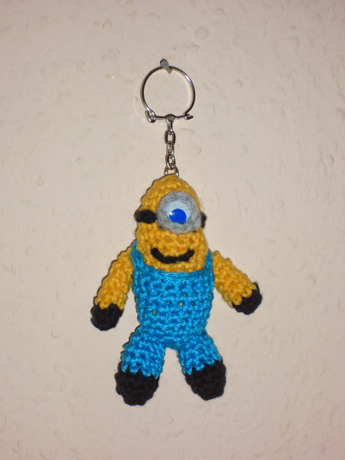 Amigurumi Minion Schlusselanhanger : handmade by Kathi: Minion-Schlusselanhanger