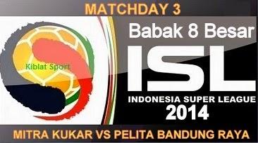 Jadwal & Hasil Pertandingan Mitra Kukar Vs PBR, Babak 8 Besar ISL 2014