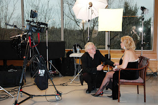 Marilyn Monroe look-a-like interview set