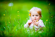 HD BABY WALLPAPERS baby girl sitting grassland other