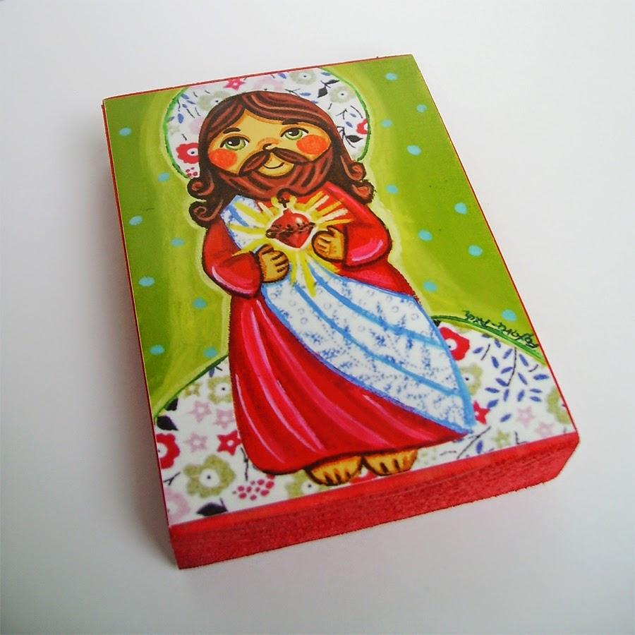 Drewniany obrazek obraz ilustracja święty święta patron święci błogosławiona błogosławiony dla dziewczynki chłopca chłopczyka dziecka prezent upominek na gwiazdkę ozdoba dekoracja bożonarodzeniowa świąteczna Serce Jezus Chrystus Matka Boska Różańcowa różaniec Maryja dziecko pamiątka chrztu chrzest pierwsza bierzmowanie komunia narodziny urodziny