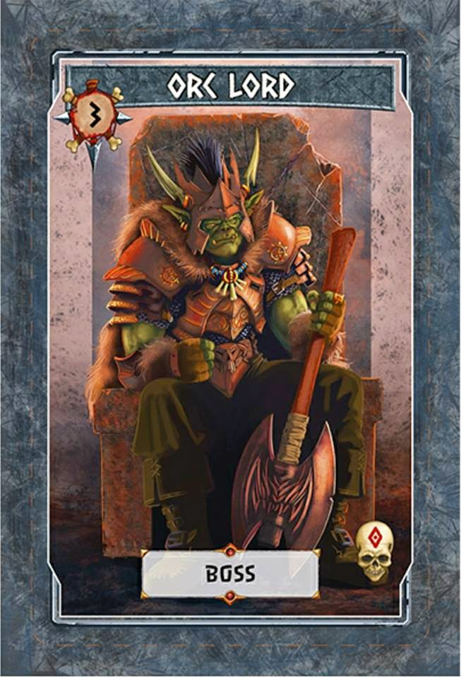 Tinku Card game kickstarter review Orc Lord