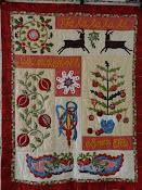 Kerst quilt uit de quiltmania