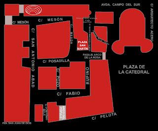Plano del Barrio del Pópulo de Cádiz