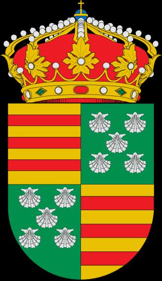 Escudo cuartelado del linaje Pimentel