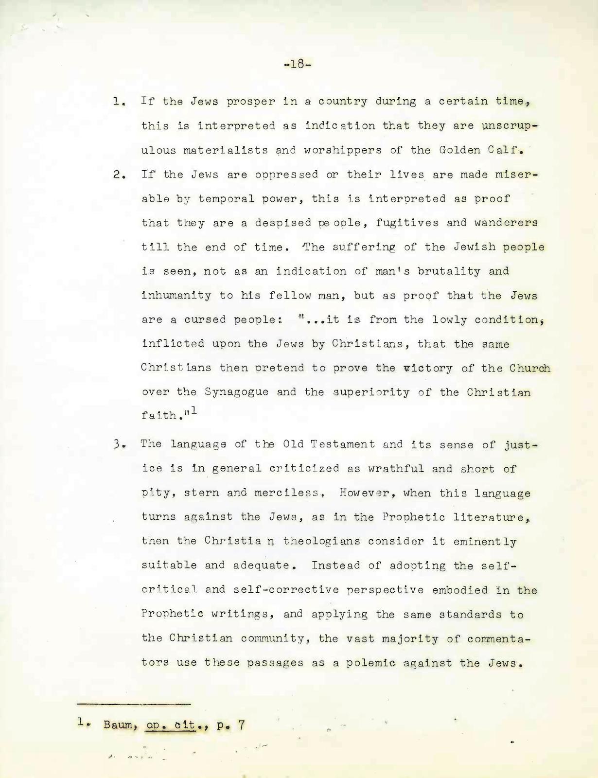 A Memorandum to the Secretariat for Christian Unity