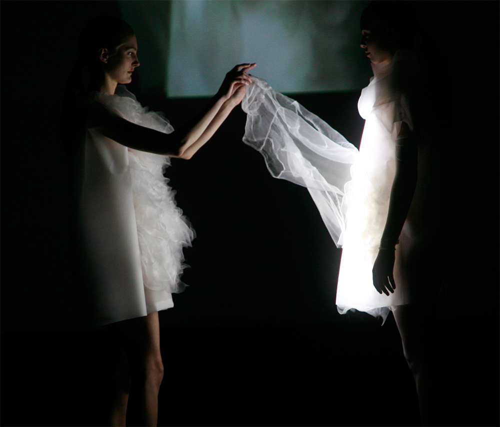 LED dress - smart fabrics and wearable tech