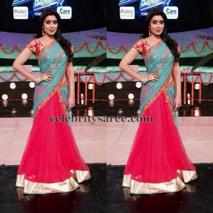 Shriya Saran in Shilpa Reddy Half Saree