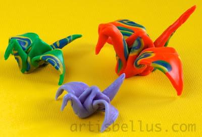 Origami Cranes - Non-conventional Materials