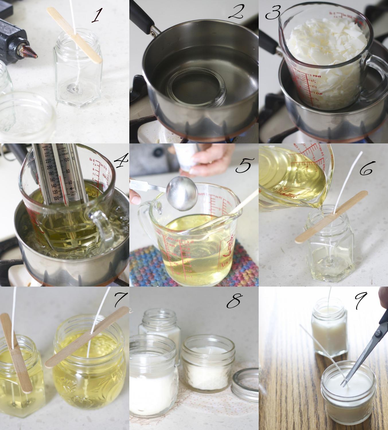 Una pizca de hogar tutorial para hacer velas caseras diy for Como fabricar velas caseras