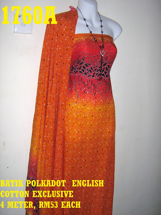 BPE 1760A: BATIK POLKADOT ENGLISH COTTON EXCLUSIVE, 4 METER