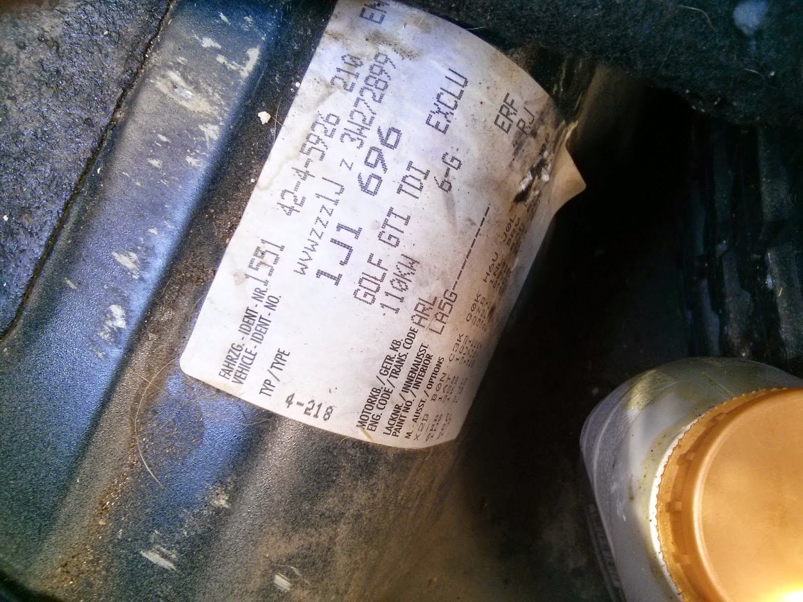 How Can I tell if my VW Golf Mk4 TDI is a PD (Pumpe Duse) Diesel?