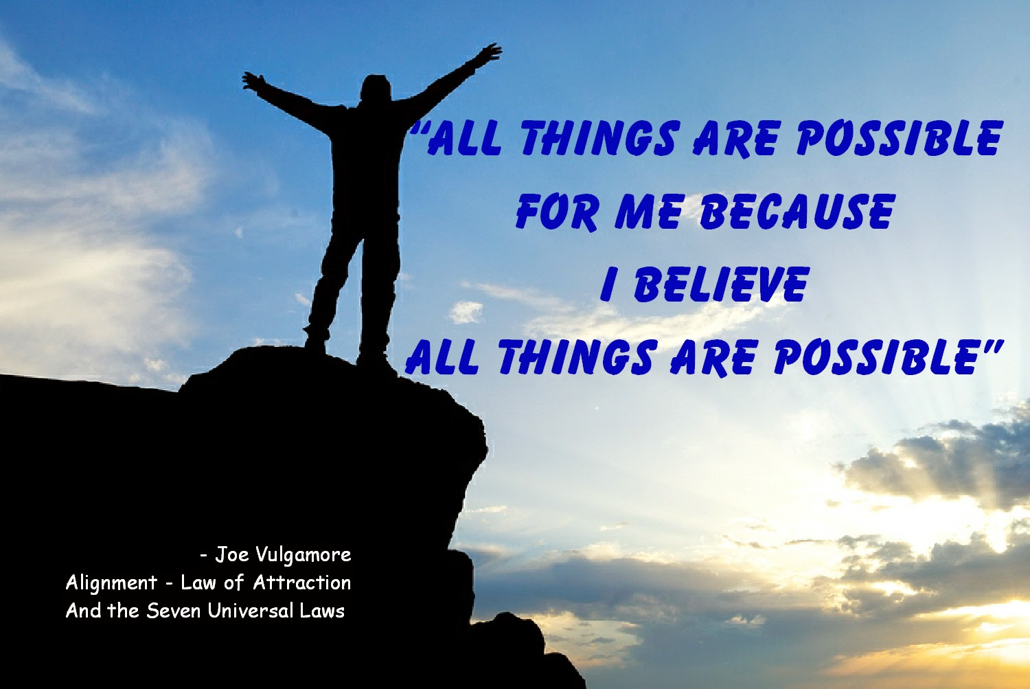 Life Coach Joe Vulgamore Speaks on Affirmations