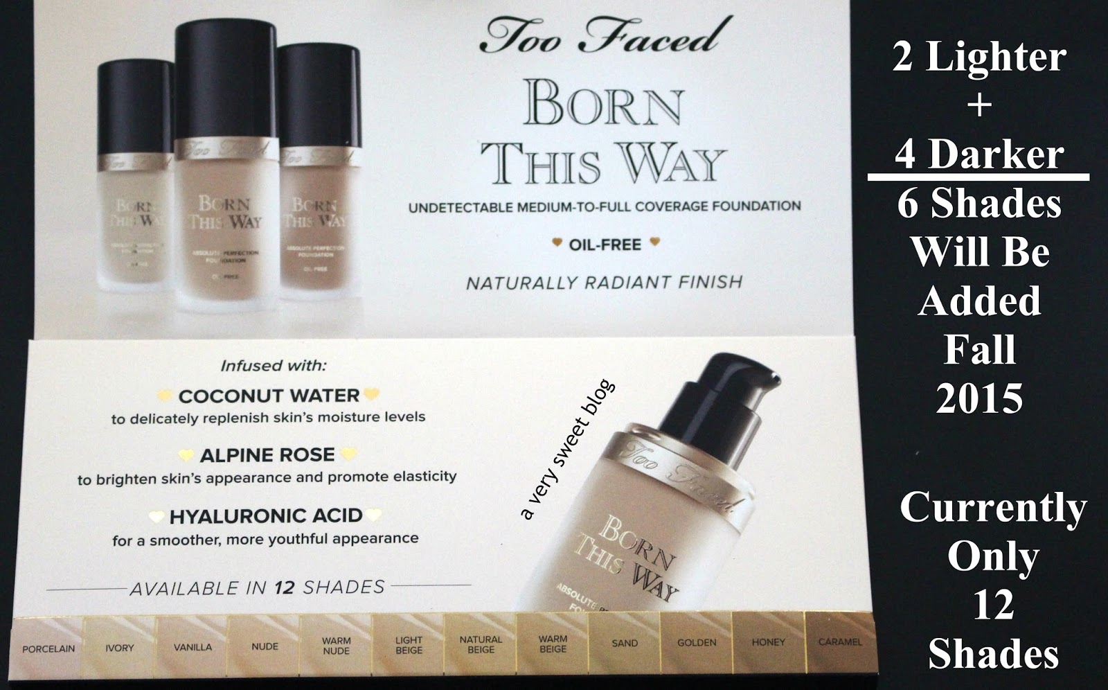 Too Faced Born This Way Foundation is Sweet