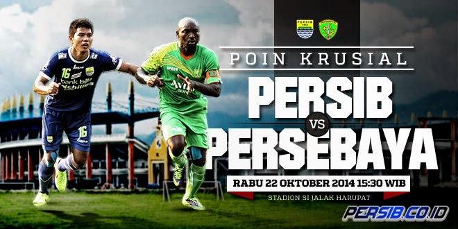 Hasil Skor Akhir: PERSIB vs PERSEBAYA 8 Besar ISL (Rabu, 22 Oktober 2014)