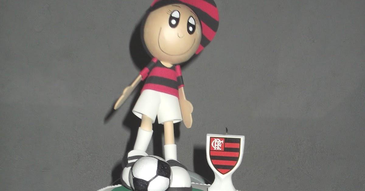 Mimos e Artes da Gi: Bolo falso de E.V.A (Flamengo)
