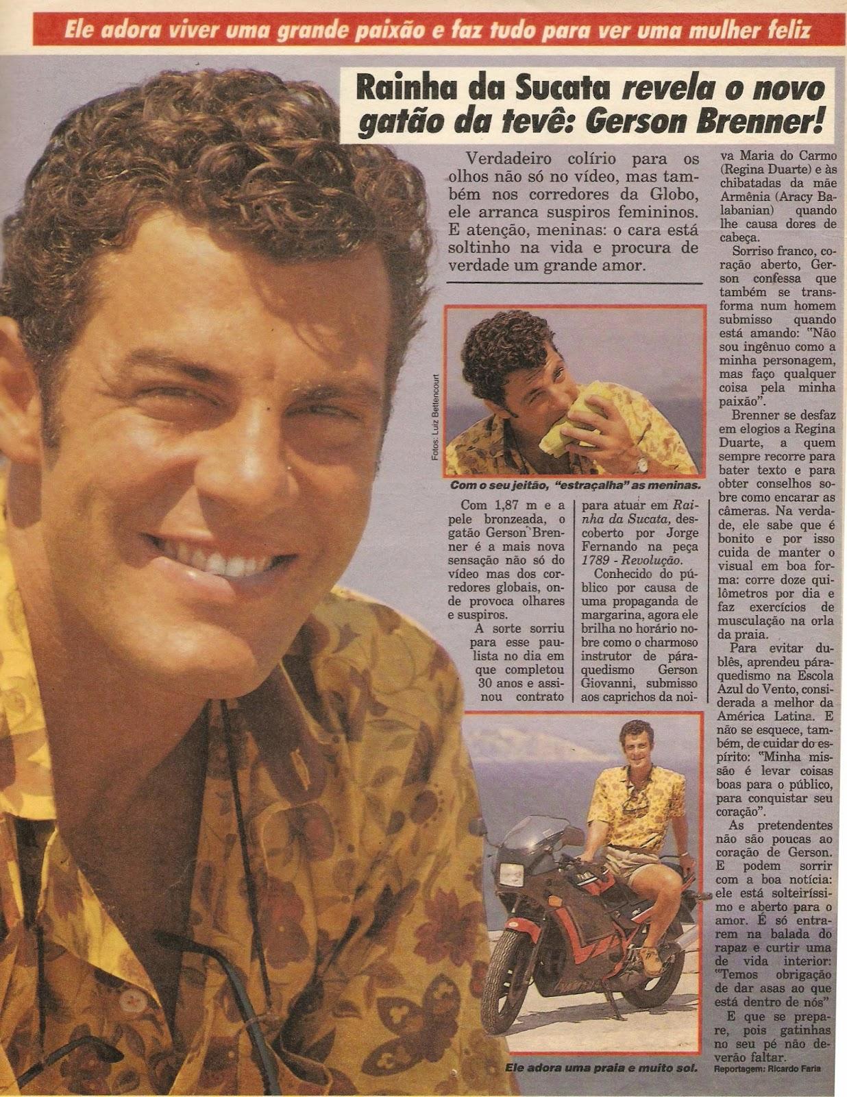 Gérson De Oliveira Nunes throughout revista amiga e novelas: gerson brenner